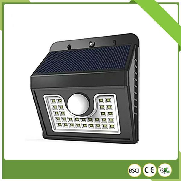 Los fabricantes de explosivos venden lámpara de pared de patio solar lámpara de jardín 30LED lámpara de pared de inducción de cuerpo humano iluminación led exterior
