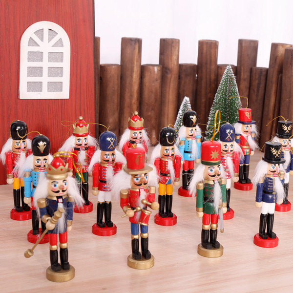 Nutcracker Puppet Soldier Wooden Crafts Christmas Desktop Ornaments Christmas Decorations Birthday Gifts For Kids Girl Place Arts An2678