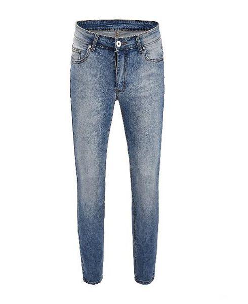 2019 novo designer longo rasgadas jovens homens macios calça jeans de qualidade macio moda jeans motociclista para homens quente venda de locomotivas Buraco lazer calças