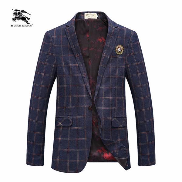 Blazer 2019 de gama alta de los hombres de moda casual coreano delgado traje pequeño jóvenes Hombres de Negocios Individual West