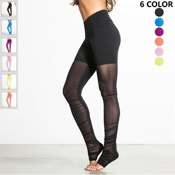 JIGERJOGER frauen Plus Größe Ausgeschnitten Schwarz Kristall Mesh Inset Yoga Hosen Outfit Kleidung für Frauen Workout Leggings Reversible # 640931