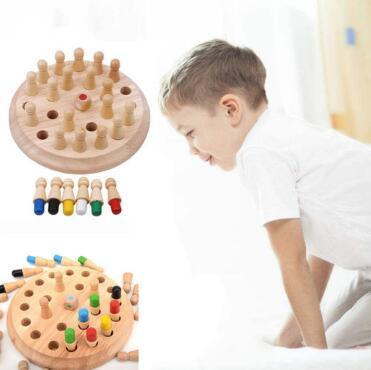 Kids Memory Match Stick Juego de ajedrez Juguete para niños Montessori Bloques educativos Juguetes Kids Early Educational Party Favor CCA11126 20 unids