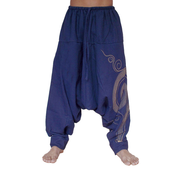 Aladdin Yoga Pants Polyester Full Length Unisex Loose Drop Crotch Floral Yoga Joggers Aladdin Harem Trousers In Pants 2019