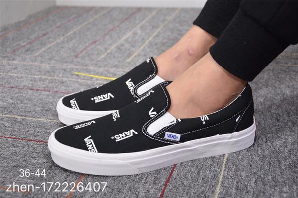 Brand Vanse Designer Men Classic Slip-on Casual Shoes Low Cut Flat Sneakers Comfortable Jogging Walking Outdoor Canvas Shoes