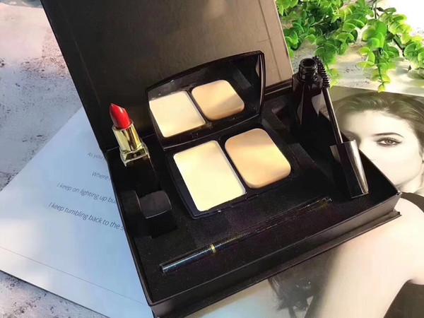 Famous CH Brand set Lipstick Lipgloss Eyeliner Pen Bloom Perfect Moist Cushion Perfection Lumiere Long-wear makeup