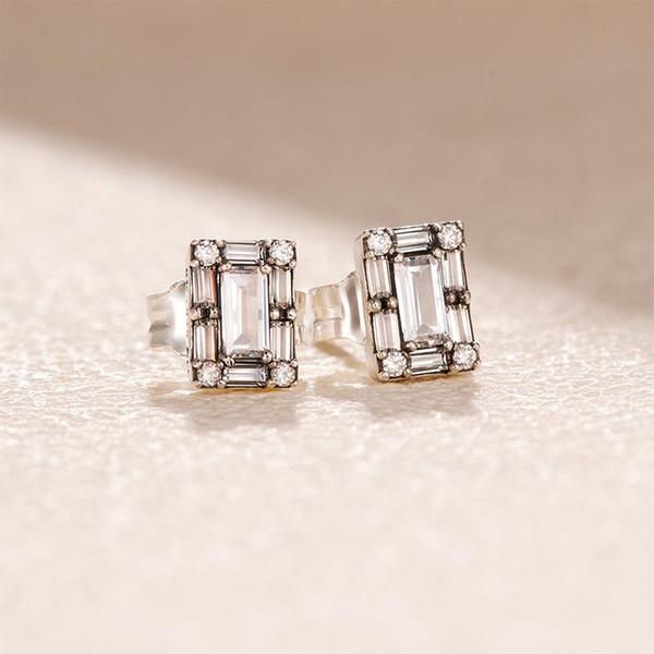 Mode Kristall Eiszapfen Ohrstecker OHRRING Original Box set Für Pandora 925 Sterling Silber Ohrringe Frauen Hochzeitsgeschenk Ohrring