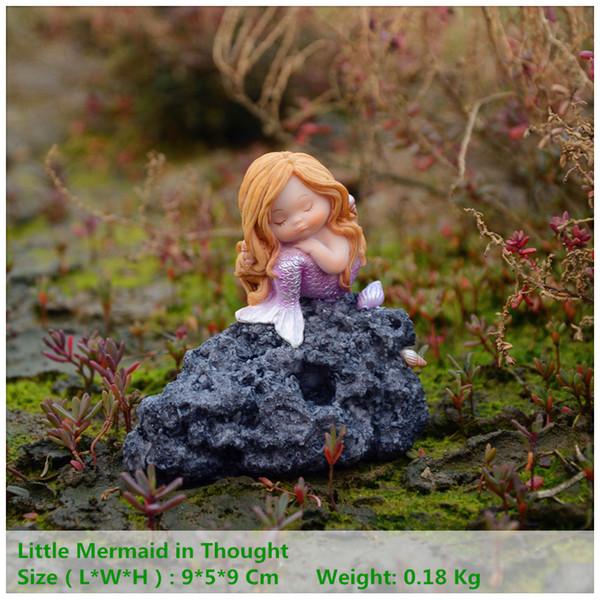 Everyday Collection Miniature Fairy Garden e Terrarium Little Mermaid Aquarium Decoration Regalo per bambini