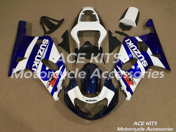Yeni Sıcak ABS Plastik motosiklet Fairing Kitleri 100% Fit suzuki GSXR600 GSXR750 2001 2002 2003 GSXR600 GSXR750 01 02 03 Çeşitli renkler NO.