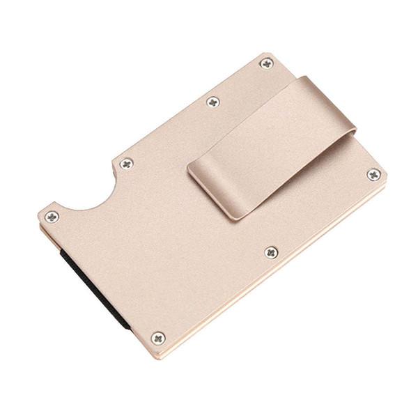 Venda quente Homens de Negócios Carteira De Metal Carteira De Cartão De Crédito De Alumínio Clipe Do Dinheiro Carteira Com Bloqueio Design de Proteção de Moda Clipe