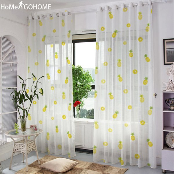 2019 3D Sheer Curtain For Living Room Window Curtains Bedroom Drape Panel  Sheer Tulle Modern Window Treatments Pineapple Decoration From Griffith, ...