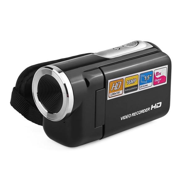 "DV180 Camera Black 16MP Mini Video Camera With 1.5"" TFT Screen 8X Digital Zoom High Speed USB 2.0 Digital Recorder"