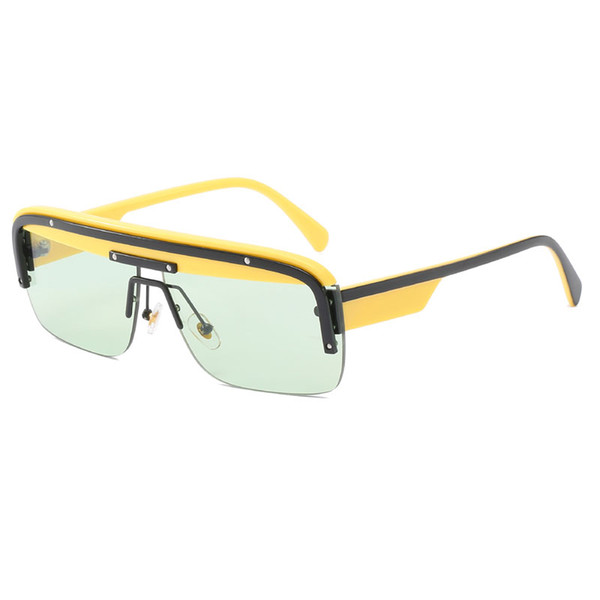 Black and yellow frame light green