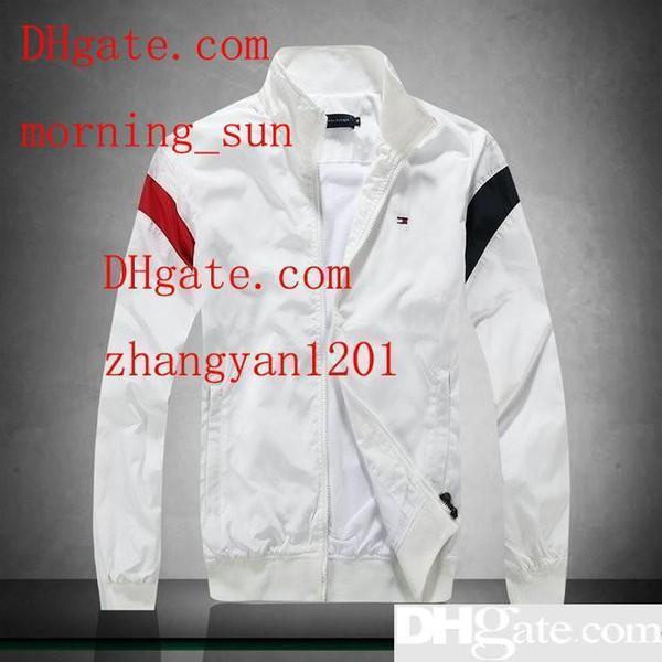 mens 2019 giacca di marca di vestiti con maniche lunghe casuale allentate breve cappotto frangivento giacca a vento alta abbigliamento uomini quatilly ABF-8