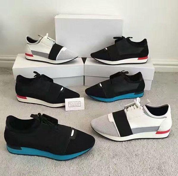 Neue 2017ss Rennläufer vervollkommnen quatily beiläufige Schuhe der Mens-Trainer Lace-Up mit ursprünglichem Kasten und Staubbeutel Freie Verschiffen Menshoes Größe 39-46