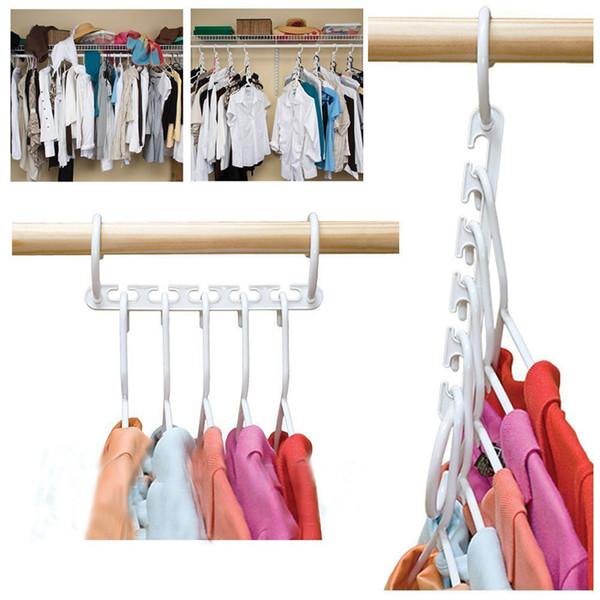 Kreative 8 teile / paket Neue 3D Platzsparende Kleiderbügel Magie Kleiderbügel mit Haken Closet Organizer Home Tools Housewif lagerung kleiderbügel