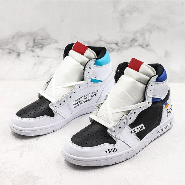 2019 A Estrenar 1s Revenderme X25 W10 Zapatillas de baloncesto 1s Divertido diseñador de moda Líder 2019 Negro Blanco Azul Hombres Zapatillas deportivas