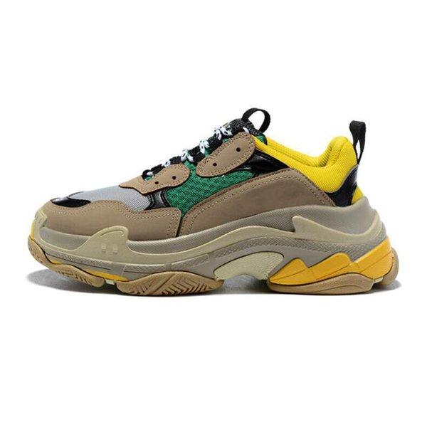 Hot SaleFashion 2019 melhor qualidade shion das mulheres de Alta Qualidade Triple-S Sneakers Das Mulheres Dos Homens Sapatos Triplos S Sapatos Formadores Sapatos Tamanho 36-45
