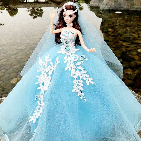Cling To Than A Doll Wedding Dress Will Tailing 50 Centimeter 3d Really Eye Beautiful Pupil Girl Vehicle Toys