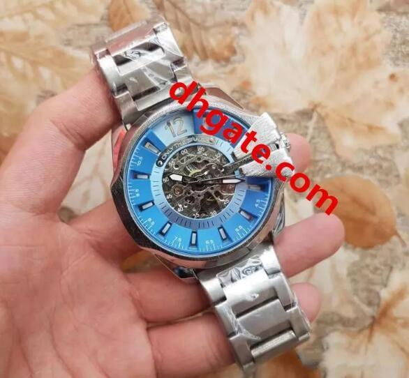High quality French famous Luxury brand Men's style DZ Automatic mechanical watch model 7333 Large dial military Tungsten steel watch
