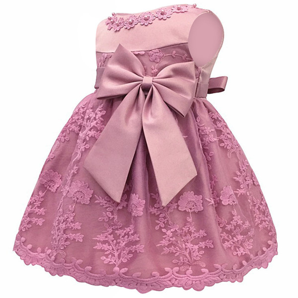 Infant Vestidos Clothes Baby Butterfly Pearl Girl Wear Sleeveless Dress For Birthday Party Toddler Costume Q190518