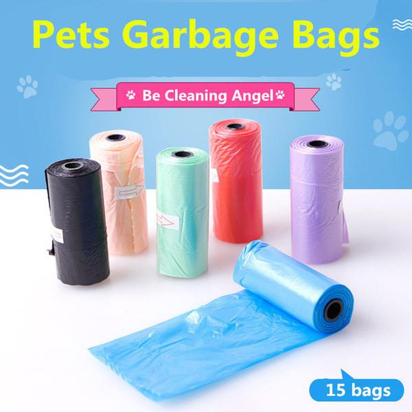 Normallack-Hundemüllbeutel-Haustier-Hausmüll säubern im Freien 15 Beutel / Stück Pooper BagsRefill Müllsack-große Größen-Haustier-Produkte