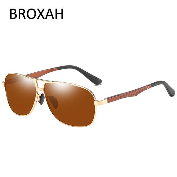 fca50ca7b9f30 BROXAH Mens Night Vision Glasses 2019 Retro Polarized Sunglasses Men Metal  Driving Glasses UV400 Lunette De