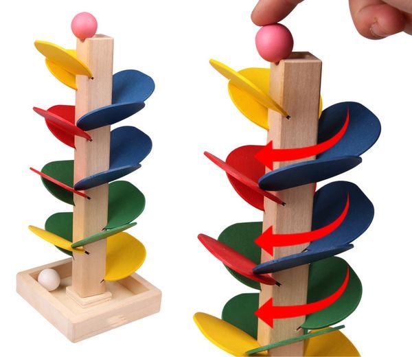Ahşap erken eğitim bulmaca renk demonte yapraklar kule top dökün top oyunu montaj çocuk oyuncakları 2-3-4-5 yaşında Yenilik Oyunları