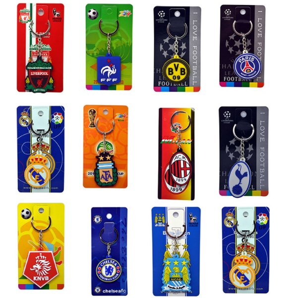 Euro 2020 World Cup fans supplies, gifts souvenirs, team logos, small key chains 13 national teams