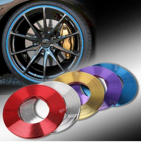 8 M Electroplated Wheel Rim Trim Styling Car Guardia Nastro di Protezione Ridurre Raschiare Anti-Collisione Anello Guardia Guard Decorazione KKA6866