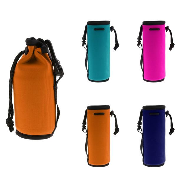 Сумка из неопрена на 500 мл, сумка для воды, с карманом, удобной кулиской и пластиковым крючком для рюкзака