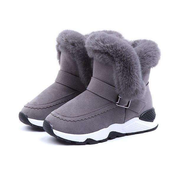 Çocuk kar botları Kış Yeni Çocuk Ayakkabıları Erkek Ve Kız Boots Kadife Pamuk Ayakkabı Sıcak Prenses
