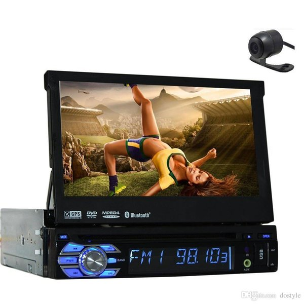Caméra arrière libre + Dernier panneau de conception détachable 7 '' lecteur DVD de voiture lecteur DVD de navigation GPS au style de voiture dash style voiture stéréo radio pc