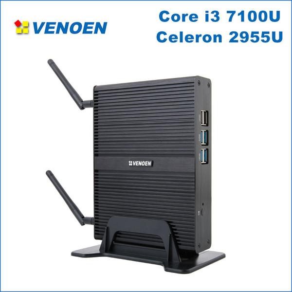 Cheapest Core i3 mini PC Core i3 7100U Celeron 2955U Minipc Windows 10 barebone HTPC i5 i7 4K output micro computer Linux i7