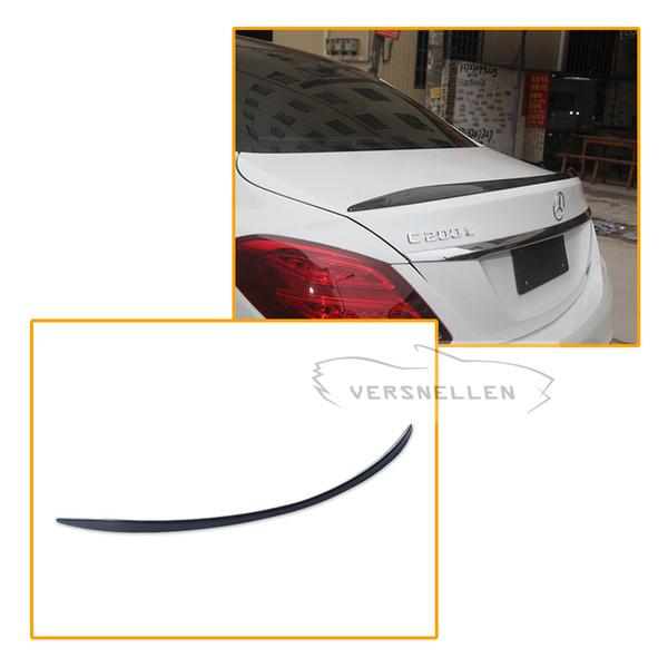 C63 Style Spoiler per Mercedes W205 Baule posteriore in fibra di carbonio Ala spoiler C200 C300 C180 4 porte Berlina Auto 2014 UP