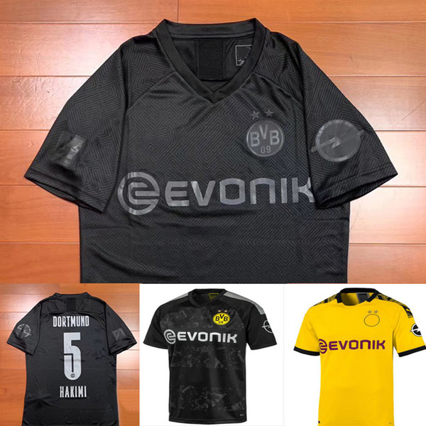 Borussia Dortmund 110th Anniversary All Black Soccer Jersey 2019 2020 Football Shirt Sancho Reus Hummels Brandt Paco Delaney Black Yellow Buy At The Price Of 17 74 In Dhgate Com Imall Com
