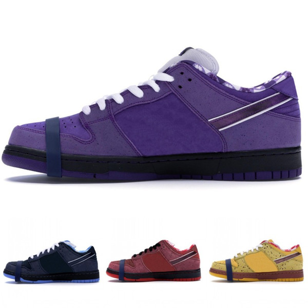 2019 New 1 Low Concepts Purple Lobster Designer Shoes 1 Low Blue Yellow Red Blue Lobster Basketball Shoes Men Women Sports Sneakers