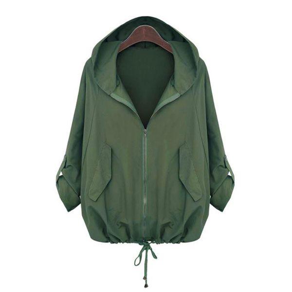 jacket women plus size Zipper Hooded Matching Pocket Sweatshirt Coat veste femme chaquetas mujer 2019 #y3