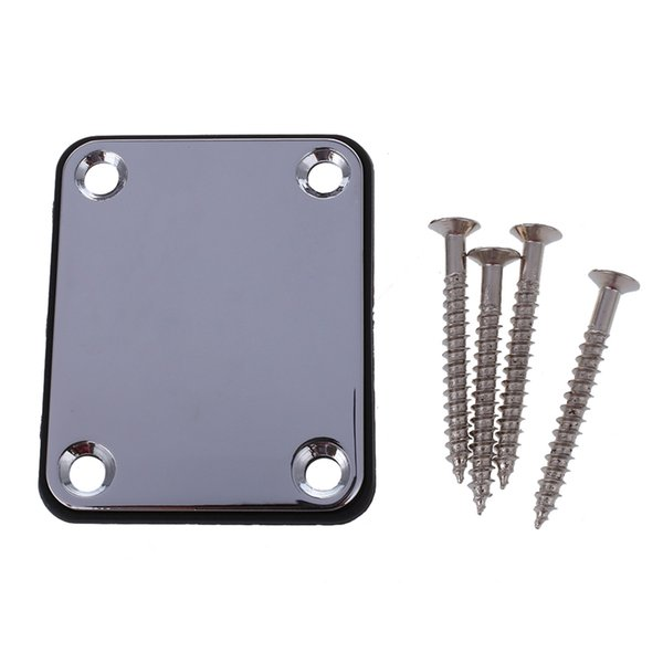 Electric Guitar Neck Plate Neck Plate Fix Tele Telecaster Guitar Joint Board - Including Screws
