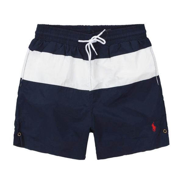 2019 Summer Swimwear Beach Pants Mens Board Shorts Black Men Surf Shorts Small Horse Swim Trunks Sport Shorts de bain homme M-2XL.