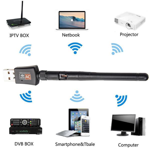 محول شبكة لاسلكية جديد بسرعة 600 ميجابت في الثانية بسرعة 2.4 / 5.8 جيجا هرتز مع محول شبكة WiFi لاسلكي لشبكة USB 802.11AC