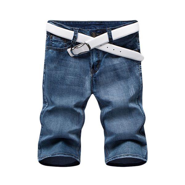 2019 New Fashion Mens Short Jeans Cotton Summer Style Thin Breathable Denim Shorts Men Fashionelastic Jeans/size 28-36 J190628