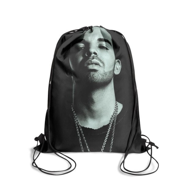 Drawstring Sports Backpack Aubrey Drake Graham head portrait sketchoutdoor convenient athletic Travel Fabric Backpack