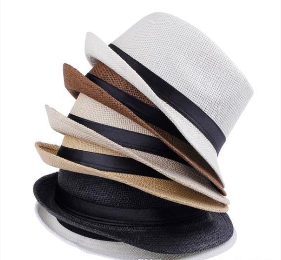 Men cap s Women Straw Hats Soft Panama Hats Outdoor Stingy Brim Caps Colors Choose K5245