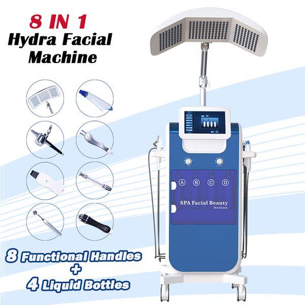 Macchina per il viso Hydrafacial Pro Macchine per microdermoabrasione Dispositivo per il viso ad ultrasuoni spa Trattamento dell'acqua Dermabrasion Hydra Trattamento del viso 8 funzioni