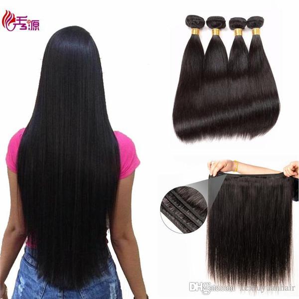 Сырые индийские девственные человеческие волосы пучки Xiuyuan натуральный цвет 100% необработанные сырые индийские шелковистые прямые девственница человеческие волосы реми