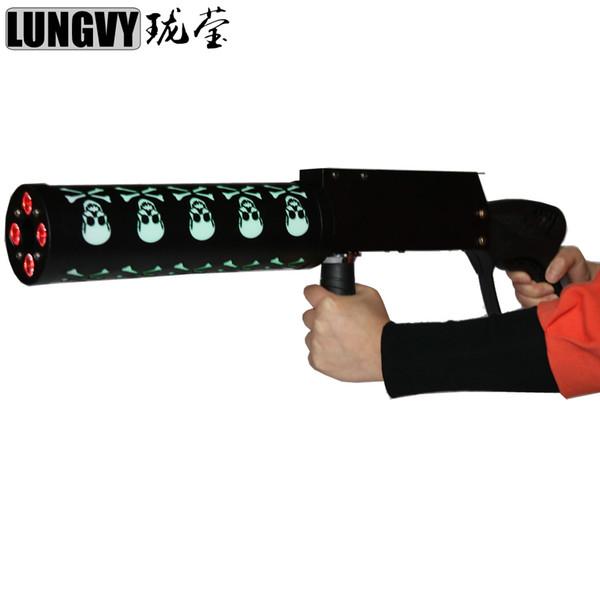 Ücretsiz Kargo Pro DJ Ekipmanları Hayalet LED CO2 Cryo Kulübü Topu Kriyojenik Özel Efektler Gun Co2 Jet Makinesi LED Cryo Tabancası