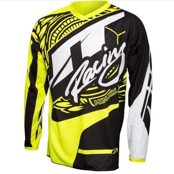 2019 Super Special Design Cross Jersey para hombre fresco Mountain Mountain Cycling Bike Motocross Jersey Cycling manga larga ropa