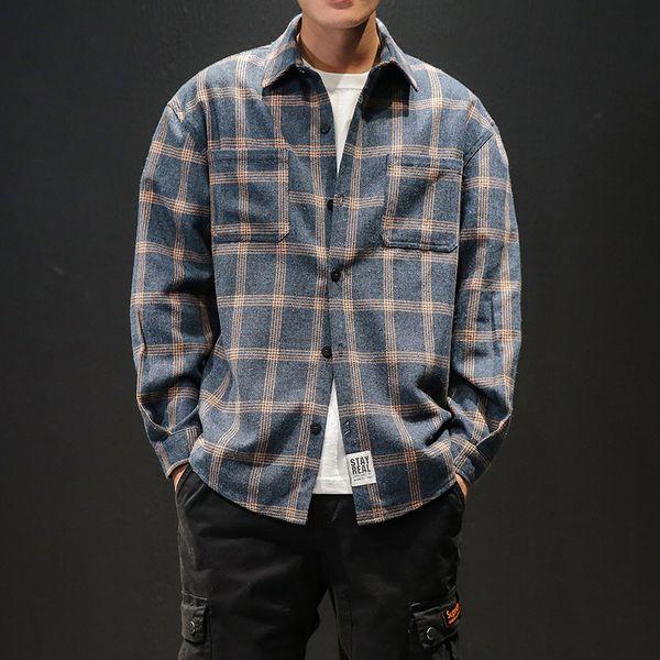 M-5XL mens shirts casual slim fit high quality shirts men dress plus size plaid men long sleeve shirt