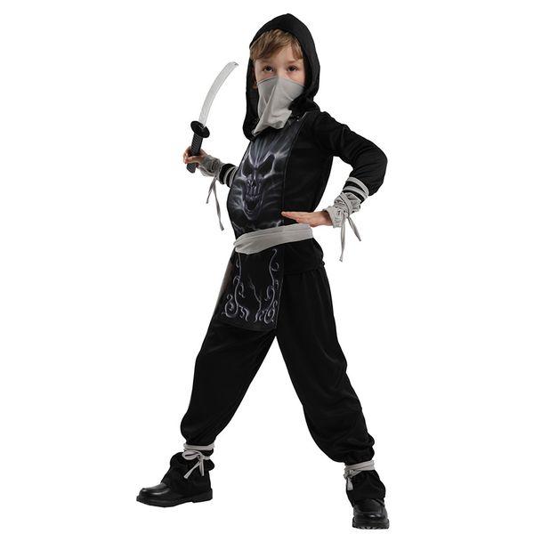 huihonshe kids ninja costumes halloween party boys girls warrior stealth children's day cosplay assassin costume