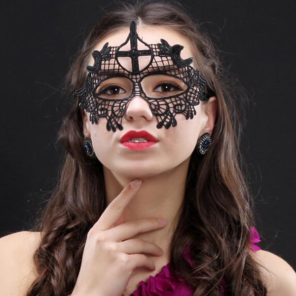 Sexy Lace Party Masken Frauen Damen Mädchen Mode Weihnachten Cosplay Maske Kostüm Maskerade Tanzen Valentine Half Face Mask BH0322